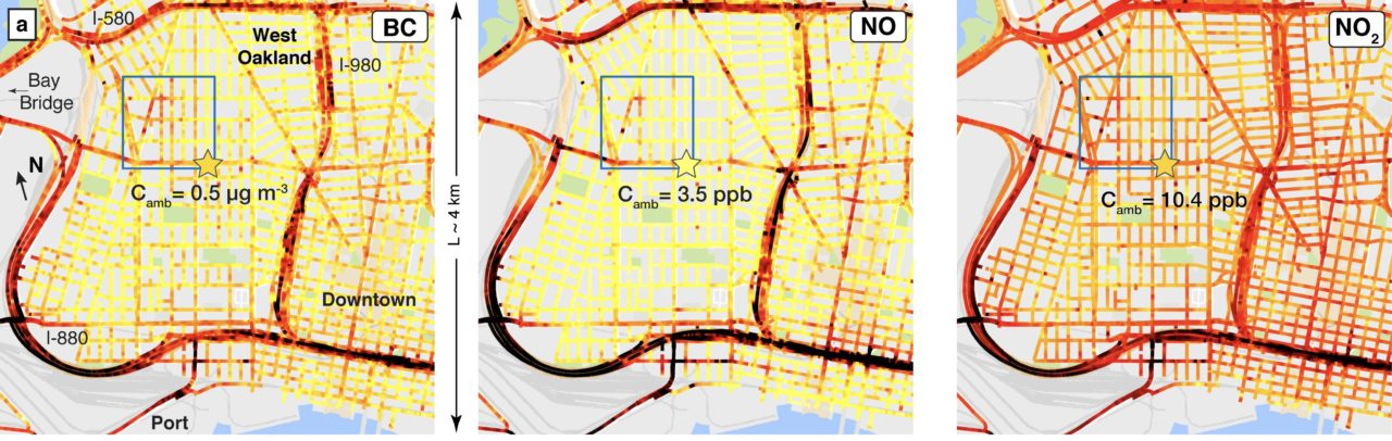 Mapping Air Pollution With Google Street View Cars Apte Research - Us air pollution map